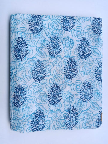 Flower Cotton in Hand Block Print Garments Fabric002BG