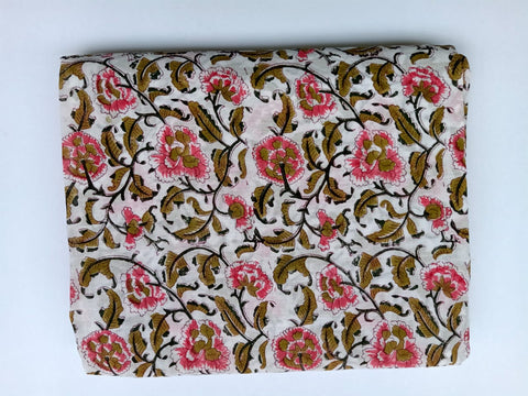 Jaal Pattern Cotton in Hand Block Print Garments Fabric002BG