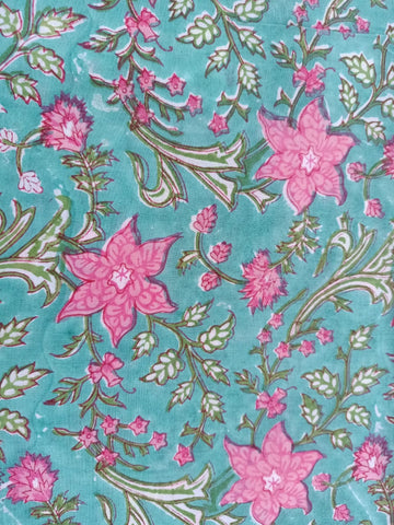 Ghad Pattern Cotton in Hand Block Print Garments Fabric002BG