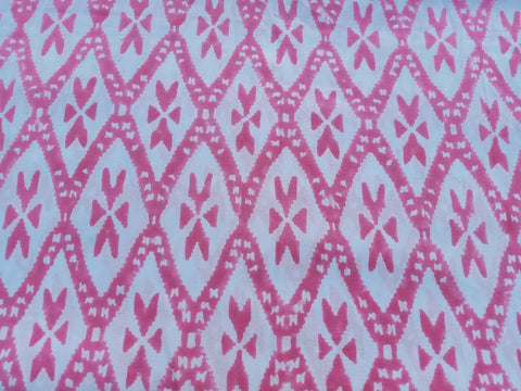 Light Weight Fabric Pattern Cotton Garments Fabric in Hand Block Print BG