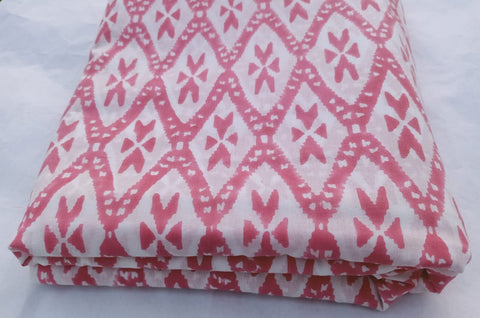 Copy of Tree Pattern Cotton Garments Fabric in Hand Block Print BG