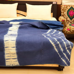 Shibori Pattern AC Dohar in Pure Cotton Hand Block PrintBG01