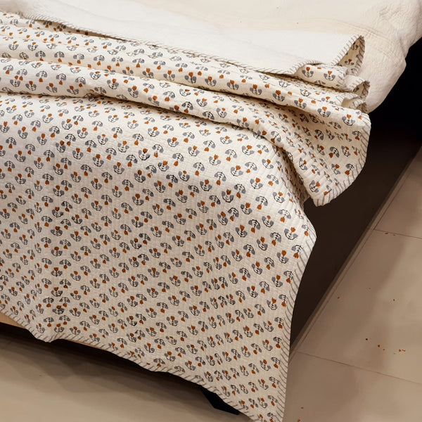 High Quality AC Dohar in Pure Cotton Hand Block PrintBG01