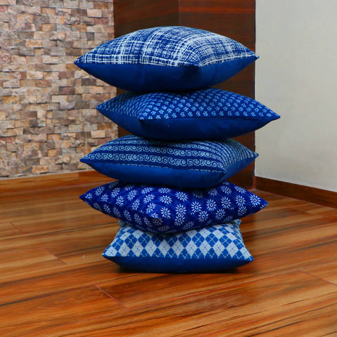 Royal Indigo Cotton Cushion Cover Pair 0012BG