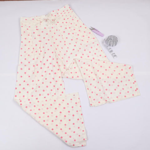 Summer Dotted Trousers in Hand Block Print