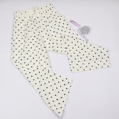 Dotted Trousers in Hand Block Print
