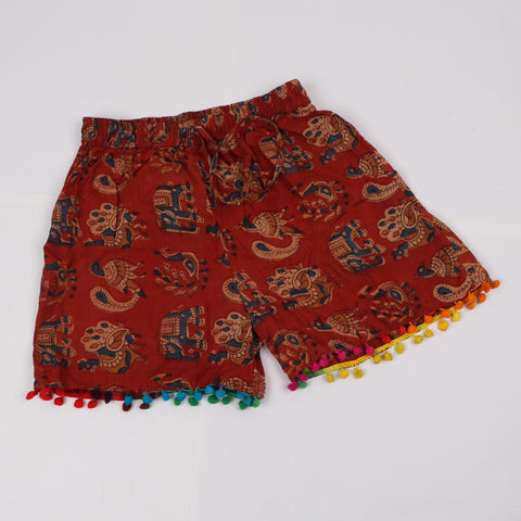 Casual Hots Shorts in Hand Block Print