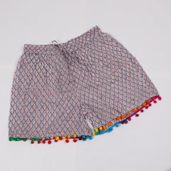 Jaal Pattern Shorts in Hand Block Print