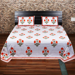 Hand Block Print Bed Sheet Set