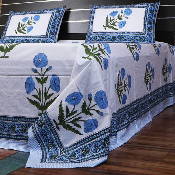Hand Block Printed Cotton Bed Sheet Set