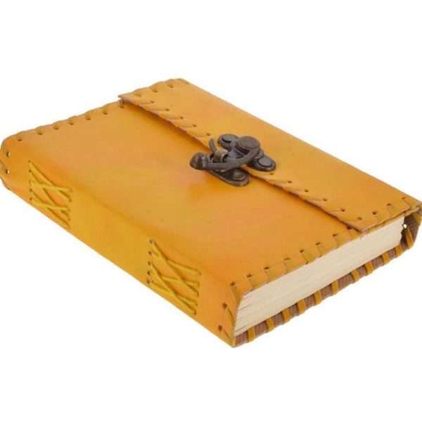 Hand Made Leather Yellow Note Book And Diary