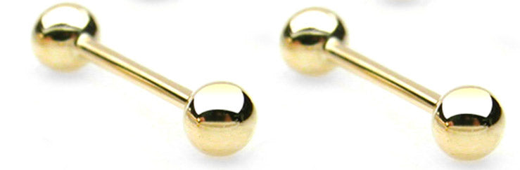 14kt Solid Gold Barbell
