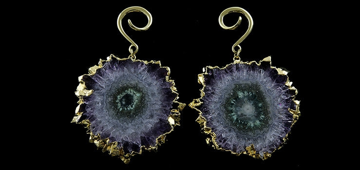Crystal Stalactite Ear Weights
