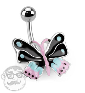 Butterfly Belly Button Ring