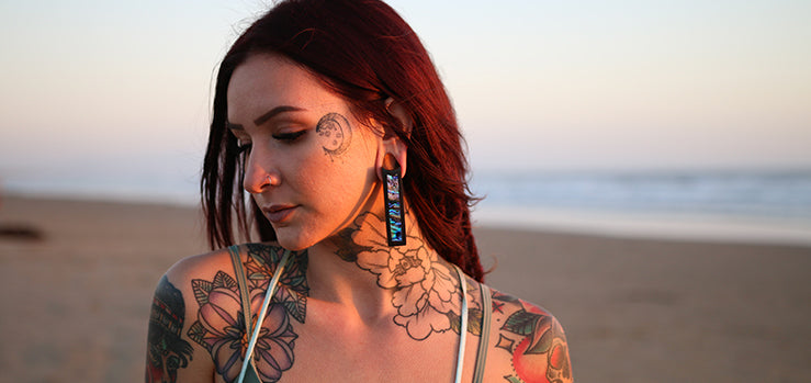 Girl with Stretched Ears