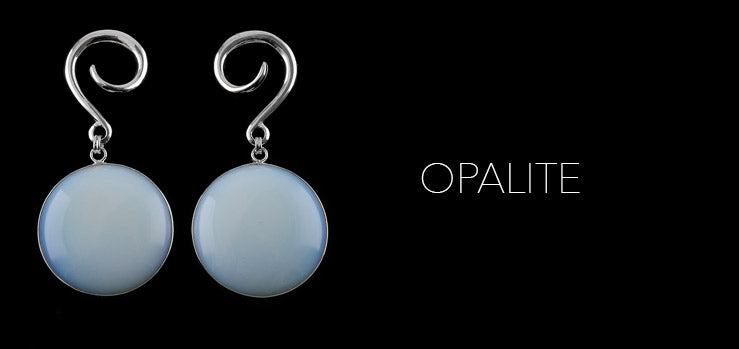 New Disk Opalite Silver Ear Weights