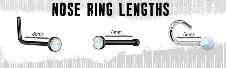 Nose Rings Lengths