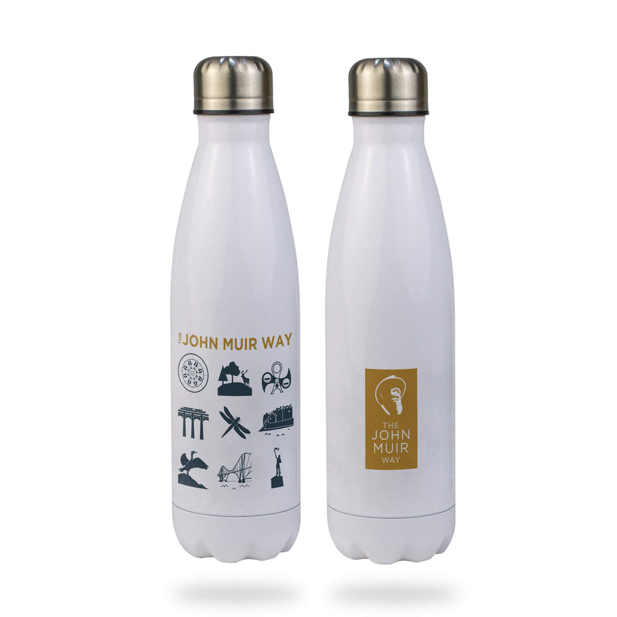 john muir way icon stainless steel water bottle