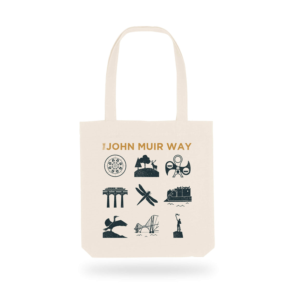 john muir way icon cotton shopper bag
