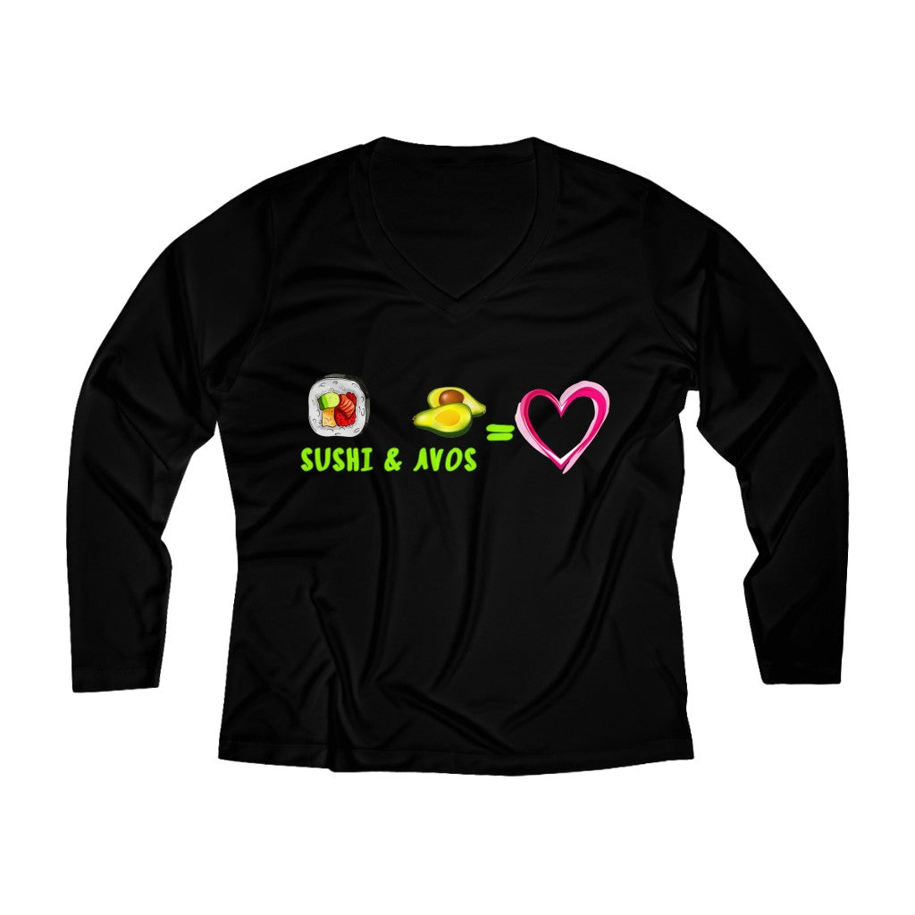 Sushi + Avos❤️  V-neck Long Sleeve
