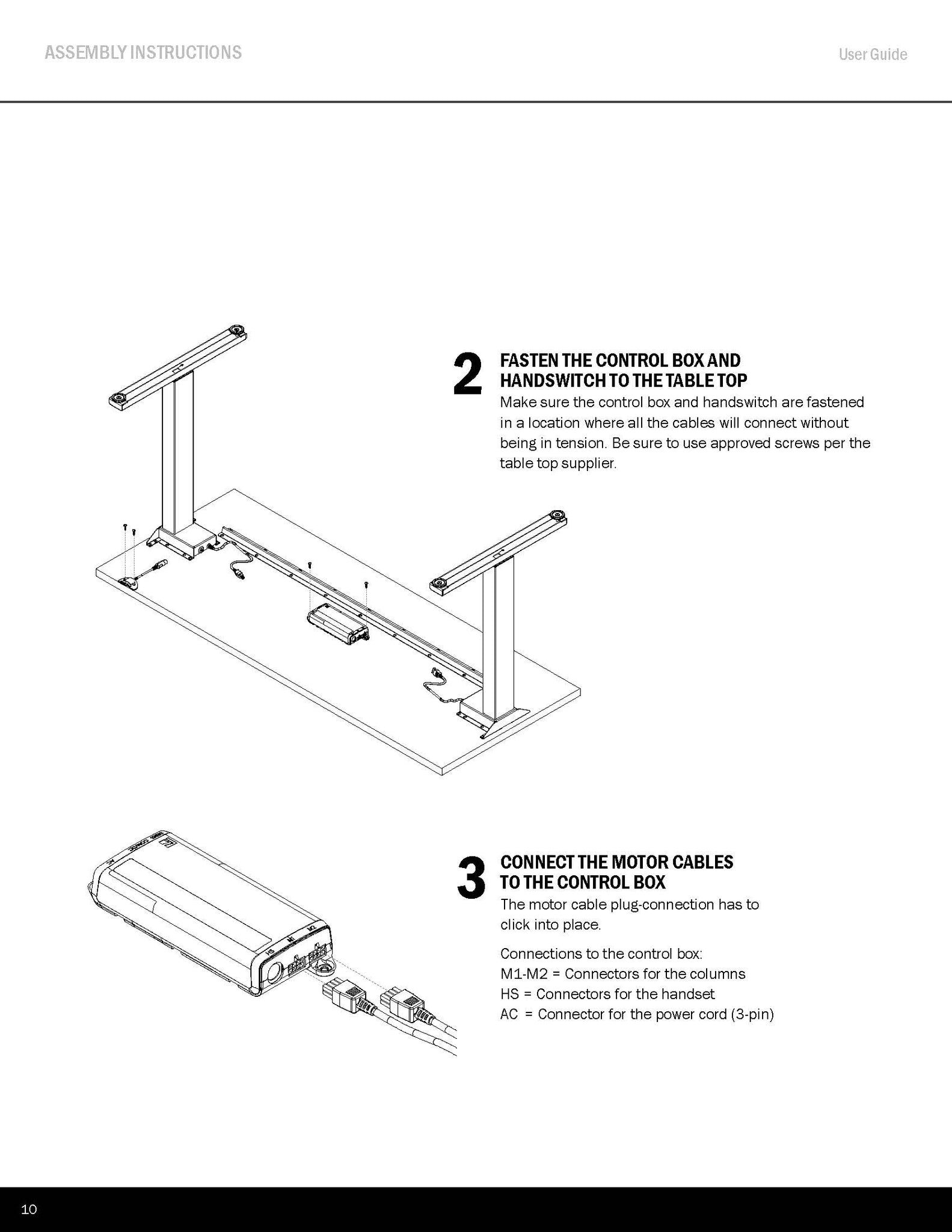 Standing Desk Assembly Instructions