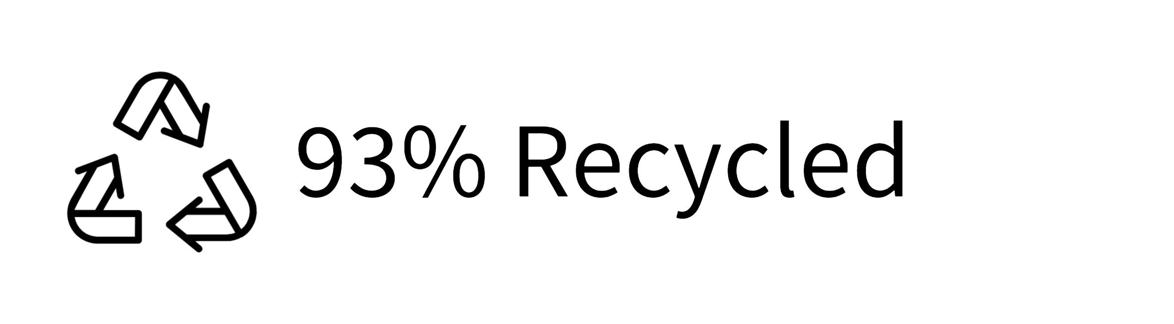 93% Recycled