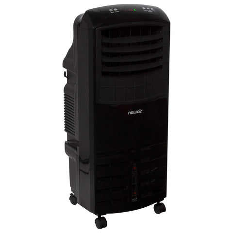 NewAir 2-in-1 Evaporative Cooler and Fan, 300 sq. ft. with Large 21 qt. Water Tank and Easy Glide Casters in Black