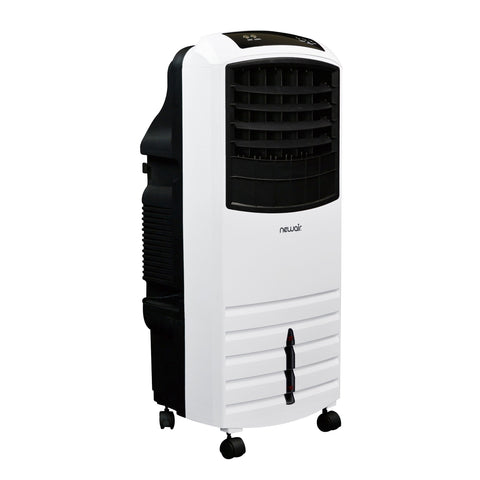 NewAir 2-in-1 Evaporative Cooler and Fan, 300 sq. ft. with Large 21 qt. Water Tank and Easy Glide Casters in White