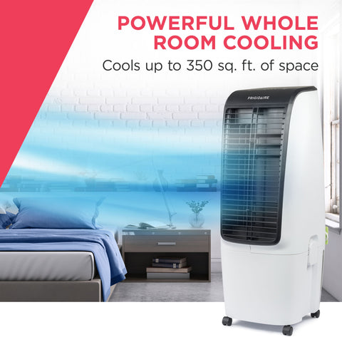 Image of Frigidaire 2-in-1 Evaporative Air Cooler and Fan, 350 sq. ft. with 4 Fan Speeds and Large Detachable 5 Gallon Water Tank