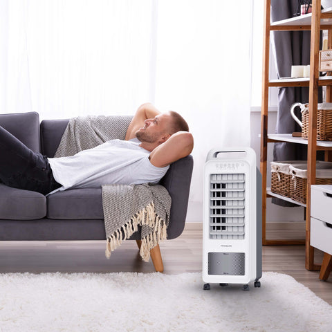 Image of Frigidaire 2-in-1 Personal Evaporative Air Cooler and Fan, 250 CFM's with 3 Fan Speeds & Removable Water Tank