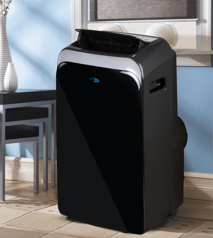 Image of WHYNTER 12,000 BTU DUAL HOSE PORTABLE AIR CONDITIONER WITH 3M AND SILVERSHIELD FILTER Black