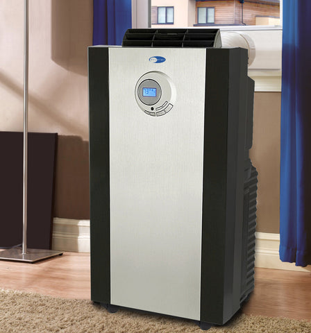 Image of Dual Hose Portable Air Conditioner with 3M™ Antimicrobial Filter Whynter  ARC-143MX - Air Purifier Center