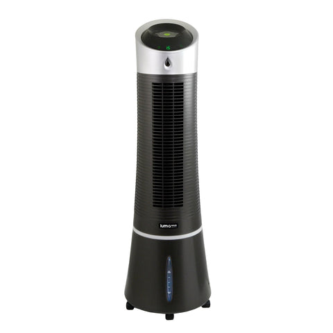 Luma Comfort 2-in-1 Evaporative Cooler and Tower Fan, 100 sq. ft., Compact Design with 3 Fan Speeds and Easy Glide Casters