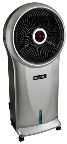 Image of Luma Comfort 2-in-1 Evaporative Cooler and Fan, 250 sq. ft., 3 Fan Speeds and Removable Water Tank, in Silver