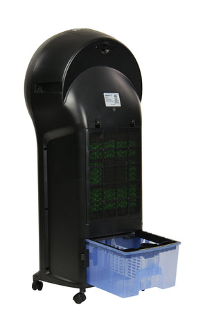 Image of NewAir 2-in-1 Evaporative Cooler and Fan in Black, 250 sq. ft. with 3 Fan Speeds and Removable Water Tank