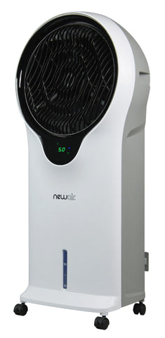 Image of NewAir 2-in-1 Evaporative Cooler and Fan in White, 250 sq. ft. with 3 Fan Speeds and Removable Water Tank