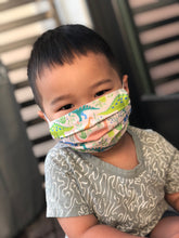 Load image into Gallery viewer, Yellow Squiggle Toddler Mask