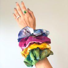 Load image into Gallery viewer, Hand Dyed Tie Dye Scrunchie