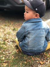 Load image into Gallery viewer, Mini Crosses Toddler Denim Jacket
