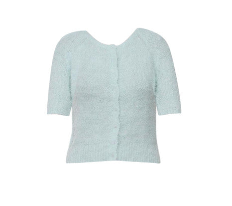 CHER MINT FLUFFY CARDIGAN