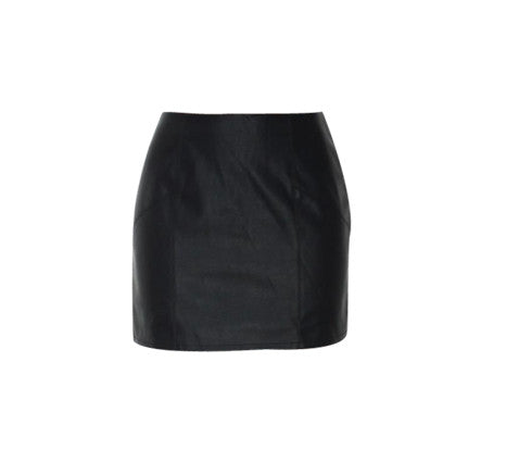 CHER BLACK LEATHER SKIRT