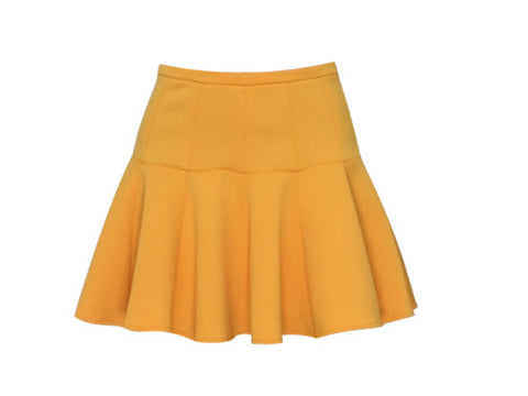 CHER YELLOW PEPLUM SKIRT