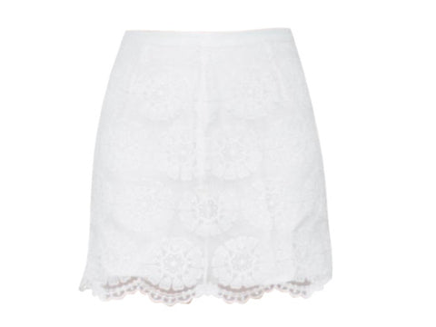 CHER WHITE LACE SKIRT