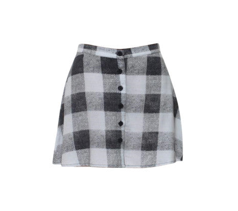 CHER BLACK AND WHITE TARTAN SKIRT
