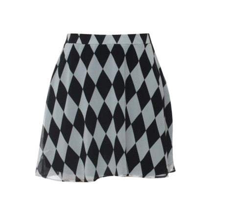 CHER CHESS SKIRT