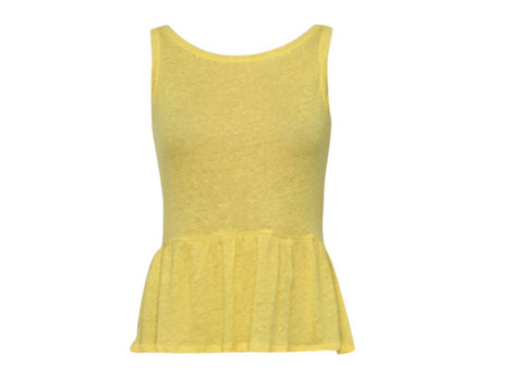 CHER YELLOW PEPLUM TOP