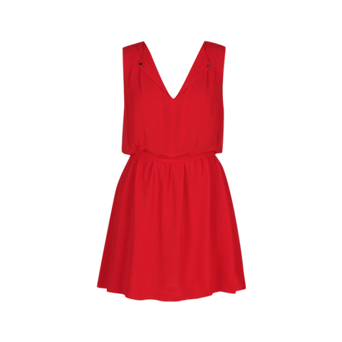 RED FLIPPY DRESS