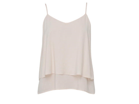 CHER WHITE TWO LAYER TOP