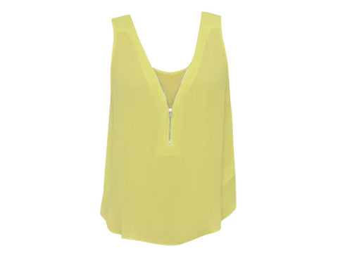 CHER YELLOW ZIP TOP
