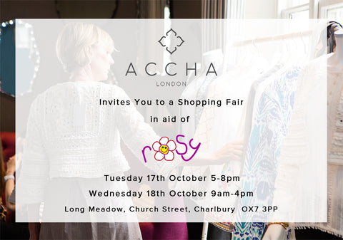 Accha in Oxfordshire at ROSY Fair Next Week